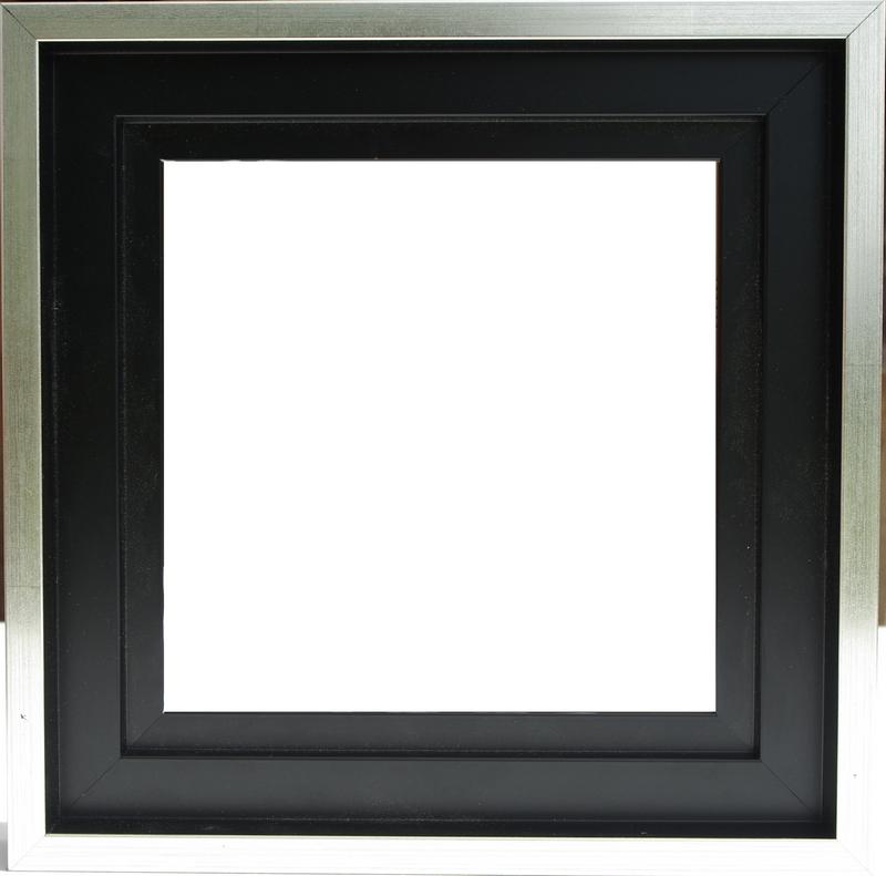 encadrement sans verre caisse usa noir filet argent colorart. Black Bedroom Furniture Sets. Home Design Ideas