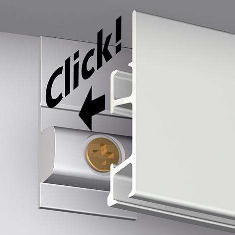 clipsez le profil cimaise. Black Bedroom Furniture Sets. Home Design Ideas