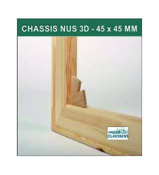 Chassis Nus 3D format Standard - 45 x 45 mm